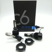 grosir TG Lampu LED Mobil H4 Cob C6 BLACK Chips 36W 3800Lm H B12hb1513