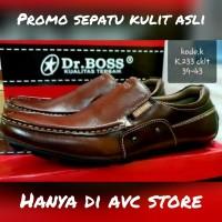 Sepatu Casual Kulit Asli Dr. Boss Coklat
