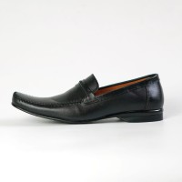 Sepatu Pantofel Pria Formal Bit Loafers Slip On Kulit Asli 9604