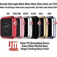 TPU Soft Electroplating Shiny Case Apple Watch 38mm 40mm 42mm 44mm - 38mm, Red