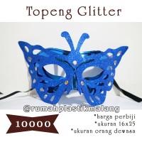 Topeng / mask glitter wajah kupu kupu