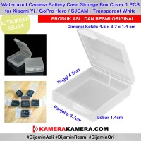 Plastic Case waterproof for battery Action camera 4.5 x 3.7 x 1.4cm