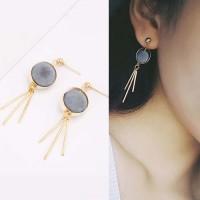 Anting Korea Round PomPom Earrings OKT088