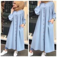 Damai fashion jakarta - baju LONG DRESS muslim gamis wanita KANAYA -