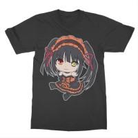 Kaos Anime Date a Live Kurumi Tokisaki Chibi - Anime - Manga - Tshirt