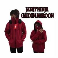 Jaket Sweater Fleece NINJA GAIDEN Maroon Zipper Hoodie Unisex L XL XXL