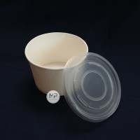 Paper Bowl 800ml (27oz) / Mangkok Kertas 800ml DENGAN TUTUP - per25pcs
