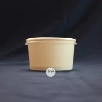 Paper Bowl 360ml (12oz) / Mangkok Kertas 360ml DENGAN TUTUP - per25pcs
