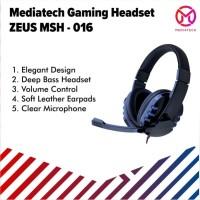 Mediatech Gaming Headset / Headphone Zeus MSH 016 - Biru
