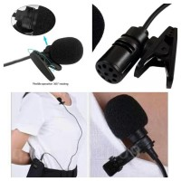 3,5mm microphone with clip mic on for smartphone android / mic jepit