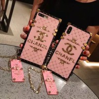 CASING IMPORT iPhone X XS Max XR 6 6s 7 8 Plus Pink Chanel Phone Case