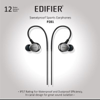 Edifier P281 Sport Earphone with Mic - Silver