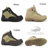 Sepatu Boots Pria Crocodile Tanker Delta Safety Boots Ujung Besi Murah