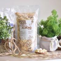 Natural Roasted Almond Sliced ( Panggang ) - 100 Gr