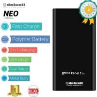 Powerbank 10000mah delcell neo slim model xiaomi bergaransi resmi