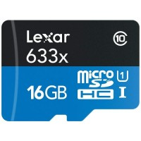 LEXAR High Performance 633x MicroSDHC 16GB [LSDMI16GBBAP633A]