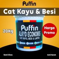 Cat minyak kayu besi Puffin Alkyd Semigloss Economis 20kg