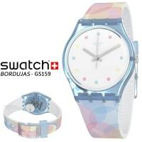 Jam tangan wanita Swatch GS159 BORDUJAS original garansi resmi 2 tahun
