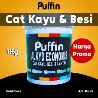 cat kayu besi PUFFIN ALKYD SEMIGLOSS economis 1kg