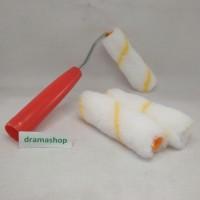 Kuas Roll Cat Busa Mini Kecil Set dengan refill cadangan