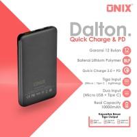 Onix Powerbank Dalton S - Real 10000mAh Triple Input QC3.0 + PD