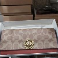 Dompet coach women wallet zip 20x10cm