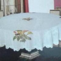 Taplak Meja Makan Bulat 4-6 Kursi B12dk1192