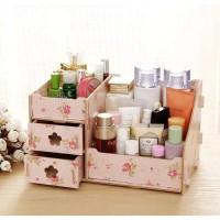 Rak Kosmetik Kayu Mini / Tempat Kosmetik / Mini Storage Make UP