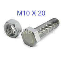 BAUT MUR HEX STAINLESS STEEL 304 M10 X 20