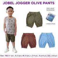JOBEL Jogger Olive Pants 3pcs Celana Pendek Anak Bayi Kazel