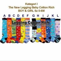 Sale Legging Bayi Cotton Rich Motif Random