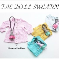 Jaket Swetter Bayi Perempuan Cewek free tas boneka Anak Branded baju