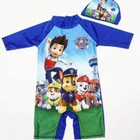 Baju Renang Anak Cowok Patrol Topi Jumpswuit Unik Lucu Fashion Import