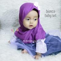 Bianca Baby Set - Baju Muslim Balita - Setelan Baju Anak Perempuan SzL