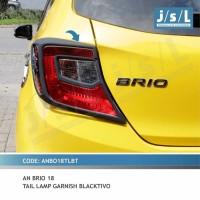 Garnish Lampu Belakang Stoplamp Hitam Doff All New Brio 2018-2019