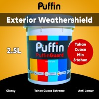 Cat tembok exterior Puffin Guard 2.5 L tahan cuaca min 6 tahun