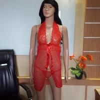 JX078R Lingerie Transparan terbuka seksi bagus murah baju tidur wanita