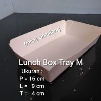 Paper Lunch Box Tray Food Grade M / Medium