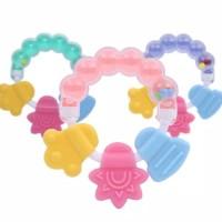 Teether kerincingan Bulat Bayi Gigitan bayi Bintang Mainan gigi