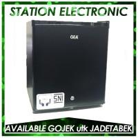 GEA Mini Bar RS-06DR Black Kulkas Portable [Khusus GOJEK/GRAB/JNE]