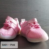 Sepatu Breathable soft LED untuk bayi Laki-laki / Perempuan