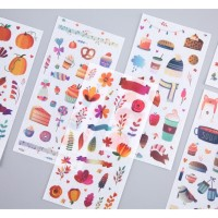 6in1 Forest Party Label Memo Sticker Pack -Stiker Set Journal Diary