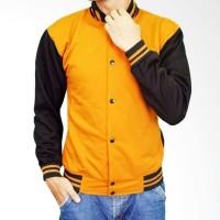 Jaket Varsity Kancing kuning hitam dan warna lainnya