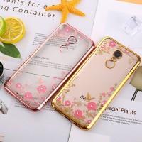 Casing Soft Case Bunga Bling Berlian Xiaomi Redmi 5 Plus Note 4x 4 3