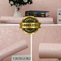 Grosir Murah wallpaper Sticker Dinding Krem Polos ( 10 M X 45 CM )
