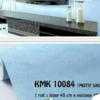 Grosir Murah wallpaper Sticker Dinding Biru polos Tekstur Silver 10 M