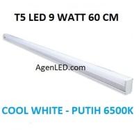 Lampu TL Neon T5 LED 9W 60cm Tube 60 cm 9 w watt biru WHITE PUTIH 10