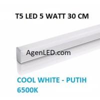 Lampu TL Neon T5 LED 5W 30cm Tube 30 cm 5 w watt biru WHITE PUTIH 4 6