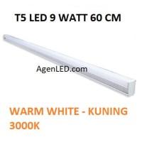 Lampu TL Neon T5 LED 9W 60cm Tube 60 cm 9 w watt WARM WHITE KUNING 10