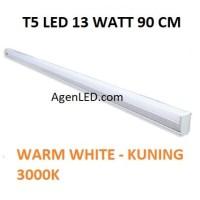 Lampu TL Neon T5 LED 13W 90cm Tube 90 cm 13 w watt WARM WHITE KUNING